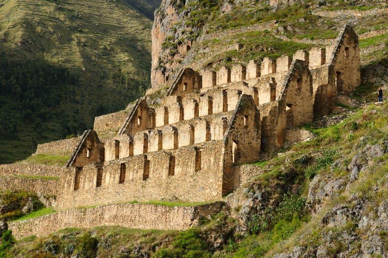 Le Pérou, vallée sacrée, forteresse d'Inca d'Ollantaytambo images stock