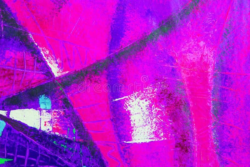 Le pétrole original et l'acrylique d'art abstrait colorent la peinture sur la toile illustration de vecteur