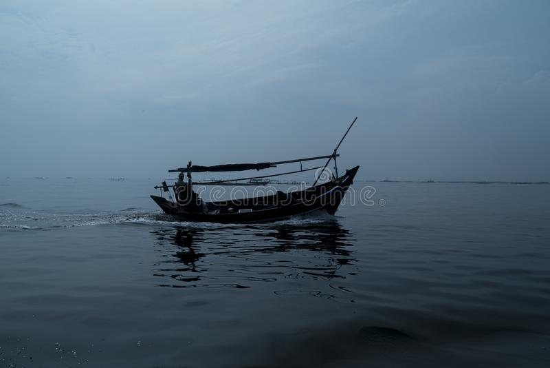 Le pêcheur image stock
