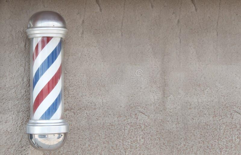 Le pôle du coiffeur photo libre de droits
