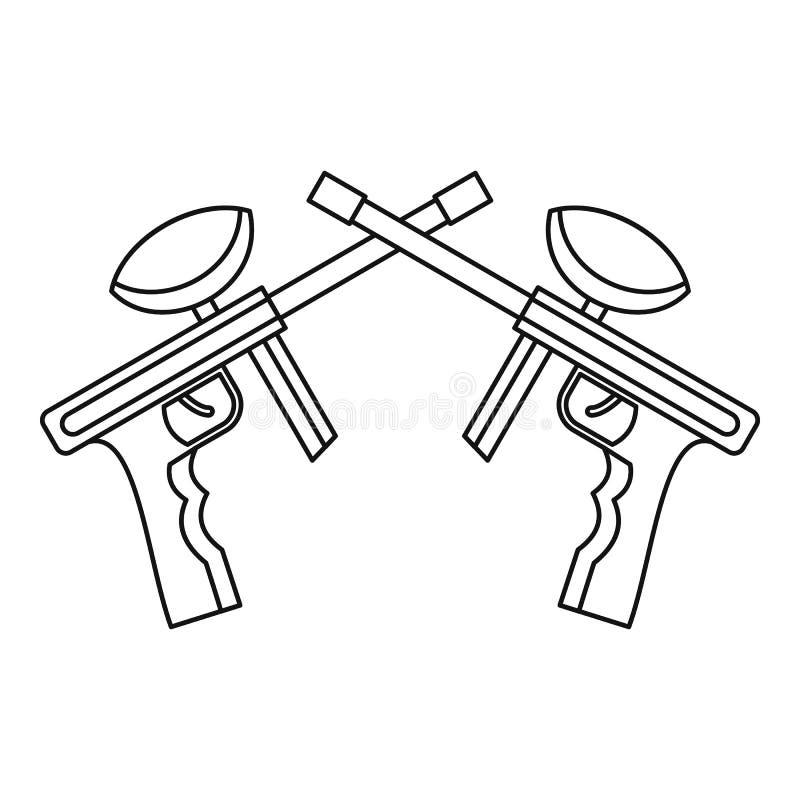 Le Paintball lance l'icône, style d'ensemble illustration libre de droits