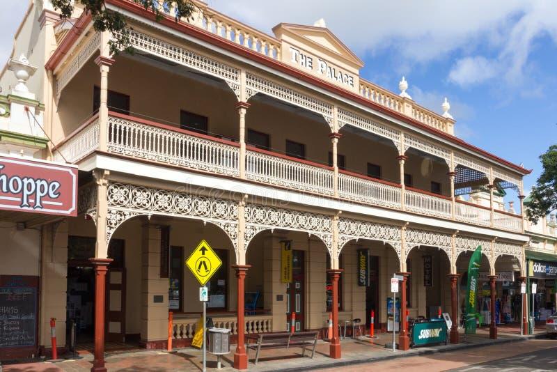 Le Palace Hotel archectural en filigrane de style de fédération, Childers, Queensland, Australie photos libres de droits