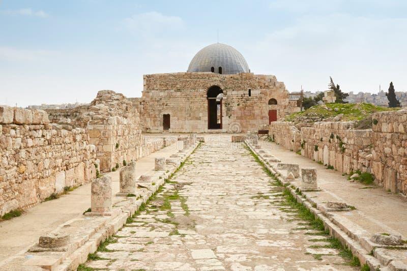 Le palais d'Umayyad à Amman, Jordanie photo stock