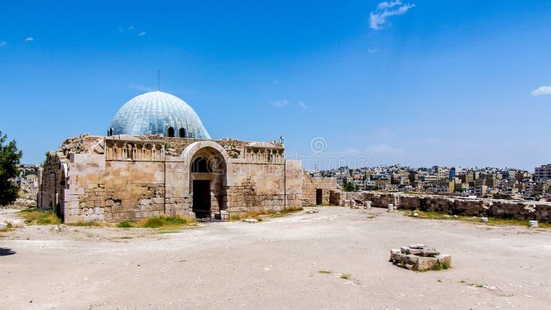 Le palais d'Umayyad, dans la citadelle d'Amman, la Jordanie photographie stock
