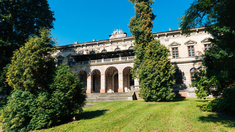 Le palais dans Pilica photos stock