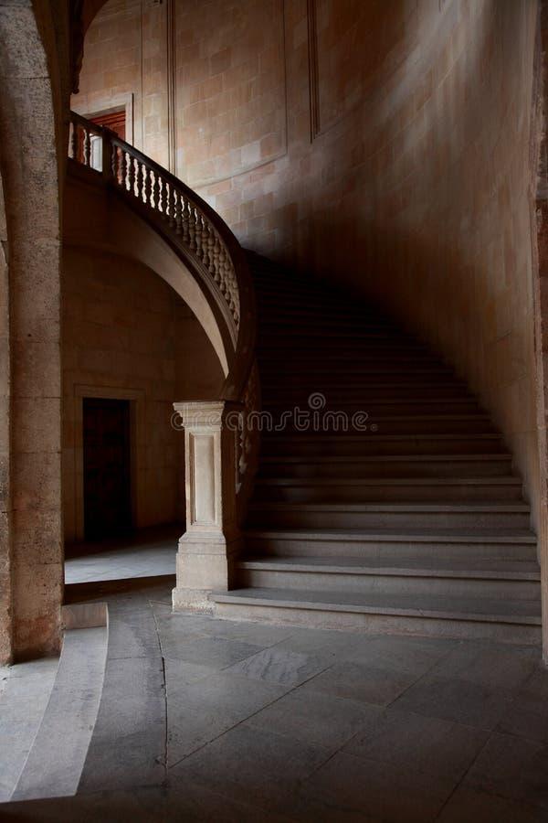Le palais de Charles V photographie stock libre de droits