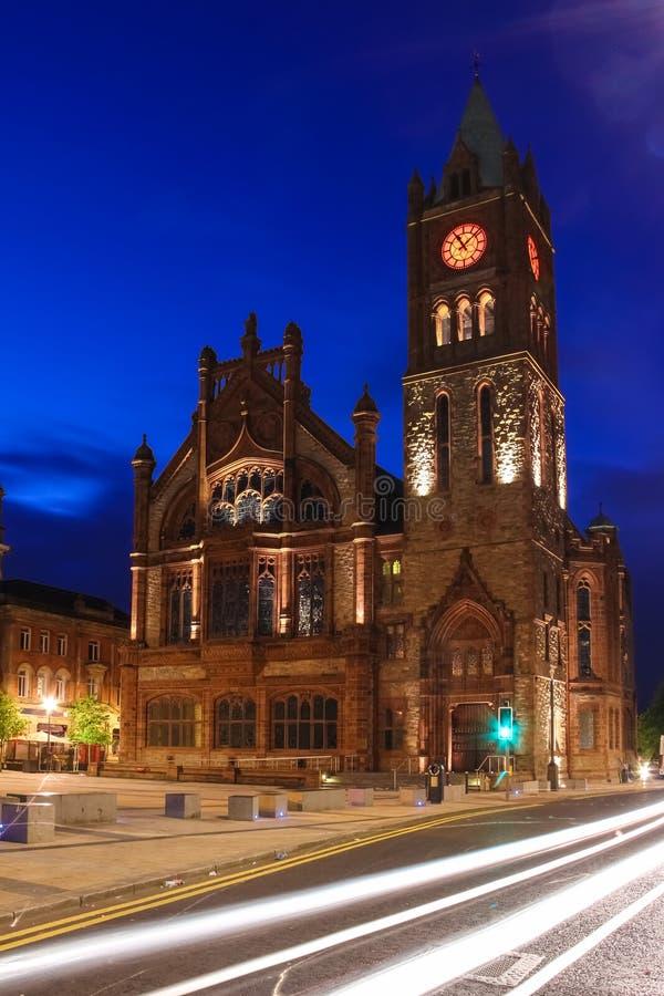 Le palais de corporations Derry Londonderry Irlande du Nord Le Royaume-Uni image libre de droits