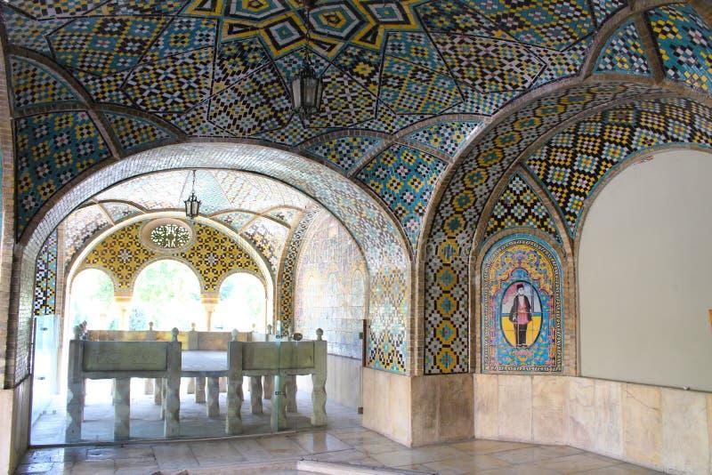 Le palais de Golestan est l'ancien complexe royal de Qajar dans la capitale de l'Iran, Téhéran photos libres de droits