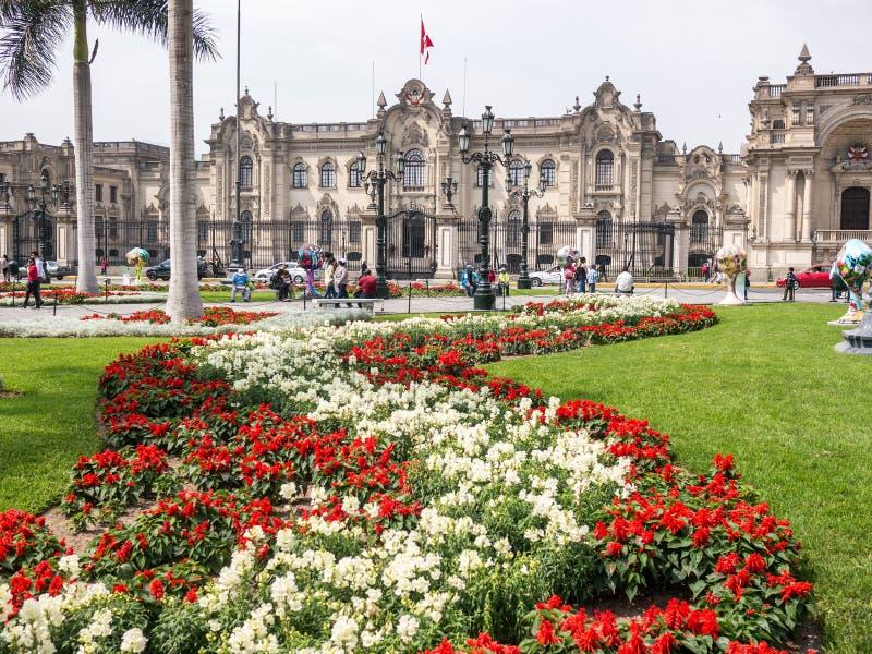 Le palais de gouvernement de Lima image stock