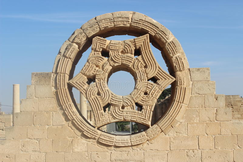 Le palais de Hisham à Jéricho, banque occidentale photos libres de droits