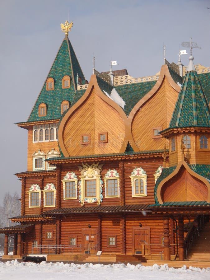 Le palais de Kolomna du tsar Alexei Mikhailovich Royal Palace en bois construit dans le village de Kolomenskoye près de Moscou photo libre de droits