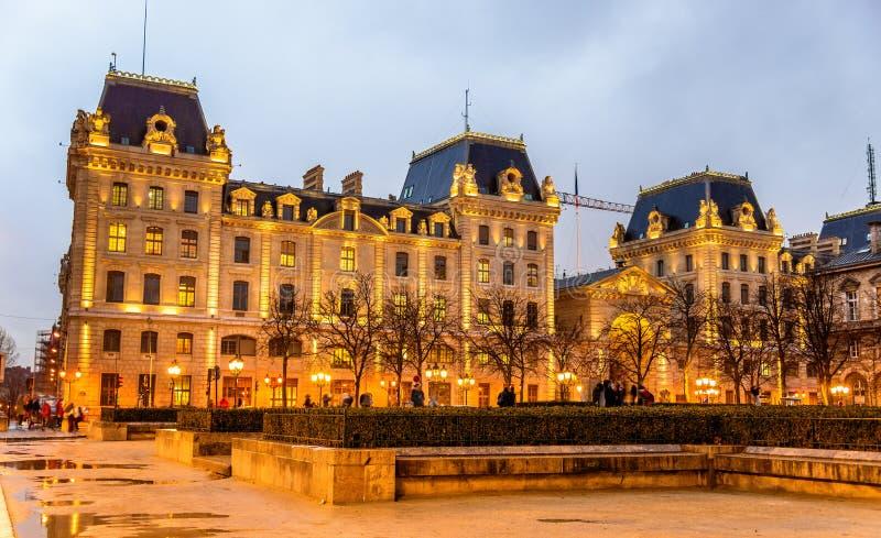 Le palais de la préfecture de la police de Paris photo stock
