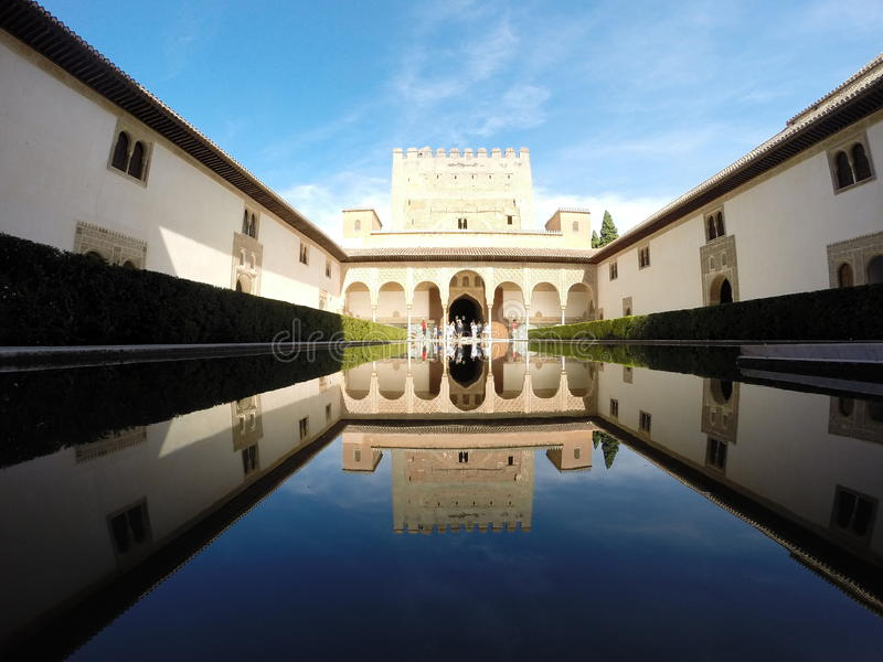 Le palais de Nasrid, Grenade, Espagne photo libre de droits