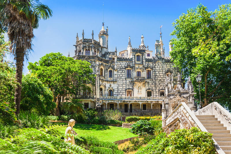 Le palais de Regaleira image libre de droits