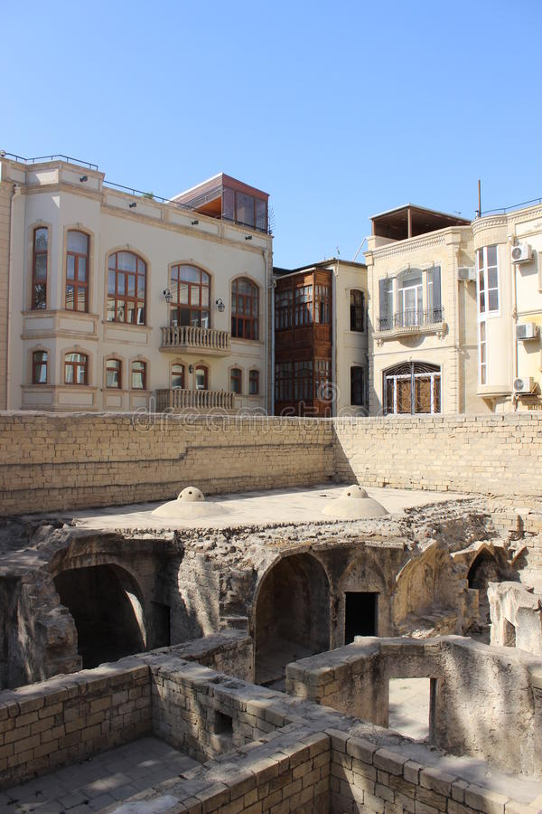 Le palais de Shirvanshah, Bakou photo libre de droits