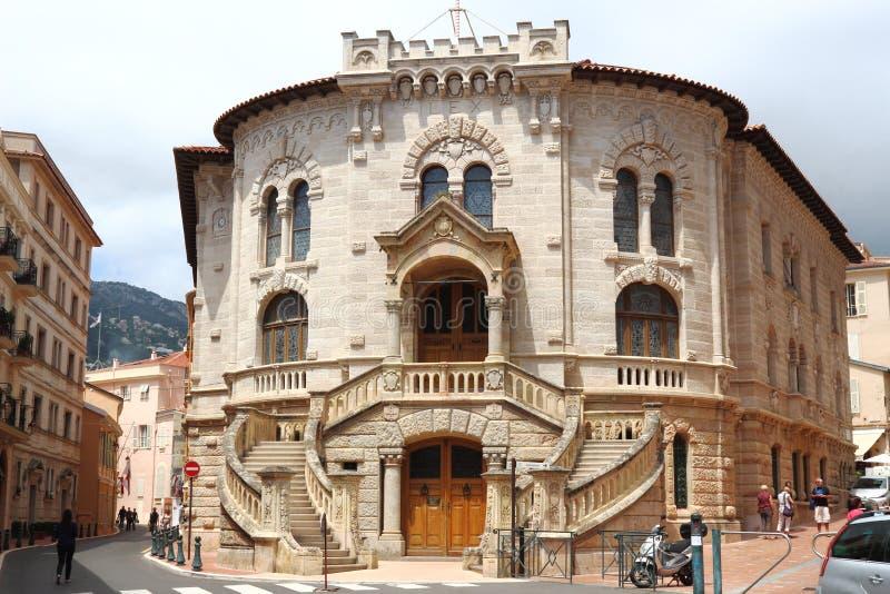 Le Palais De sprawiedliwość, Monaco miasto obraz stock