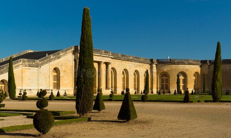 Le palais de Versailles, jardin d'orangerie, France image stock