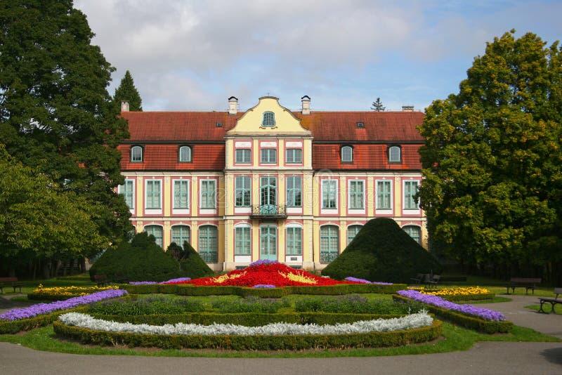 Le palais des abbés dans Oliwa image libre de droits