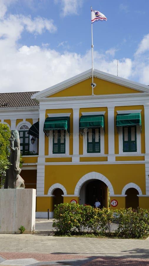 Le palais du Gouverneur dans Willemstad, Curaçao photographie stock libre de droits
