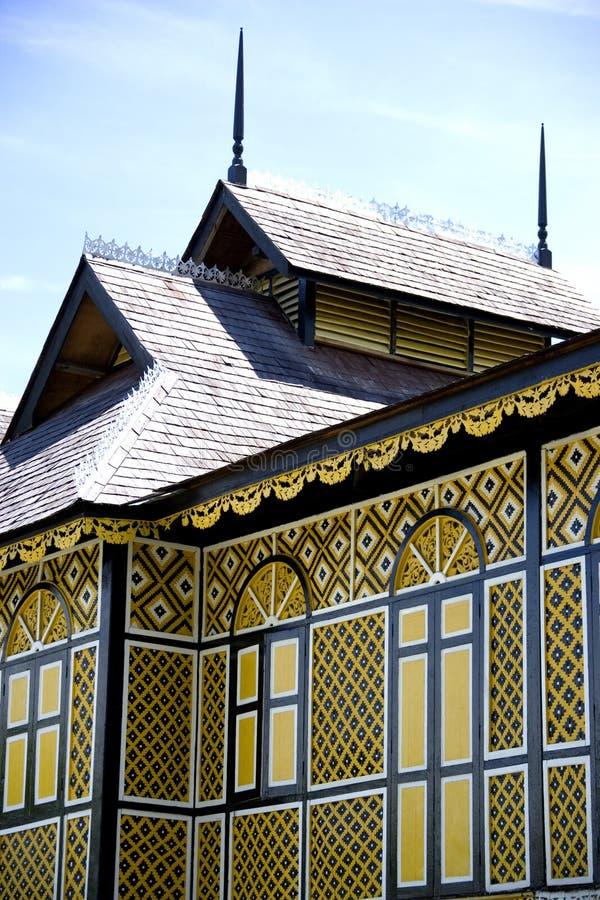 Le palais en bois antique du sultan de Perak image libre de droits