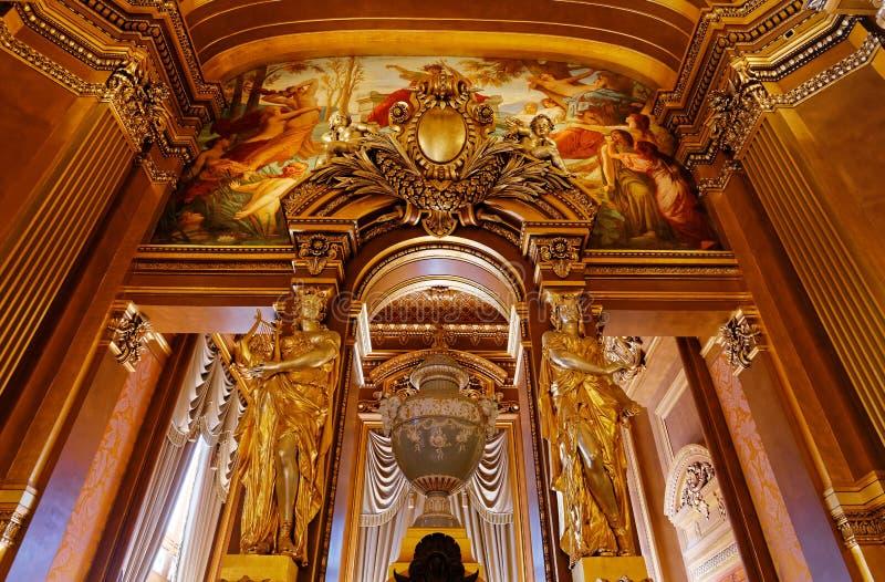 Le Palais Garnier, opéra de Paris, intérieurs et détails photographie stock
