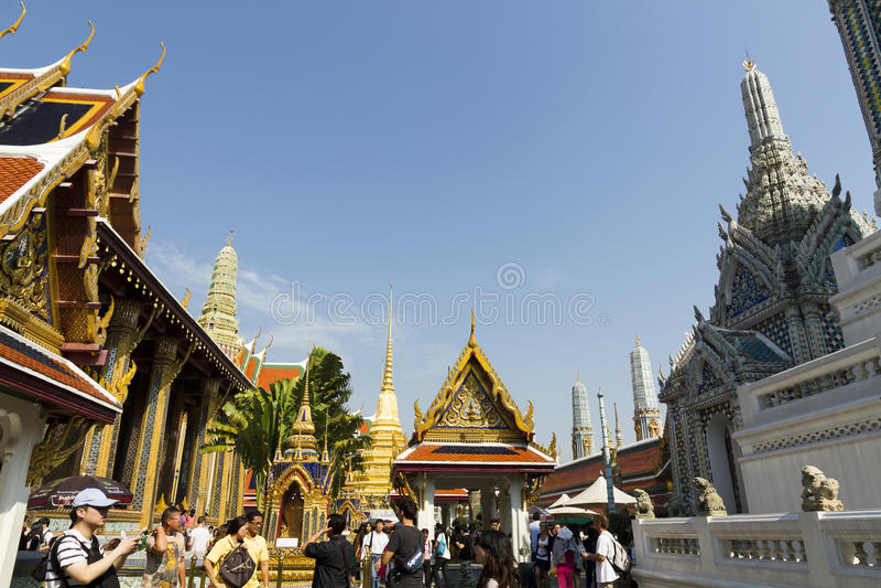 Le palais grand - Bangkok image libre de droits