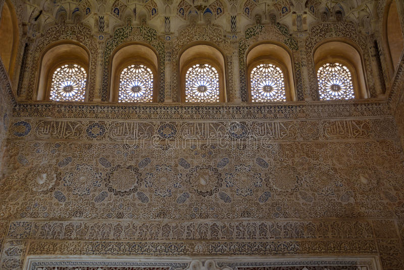 Le palais musulman a décoré le mur photo libre de droits