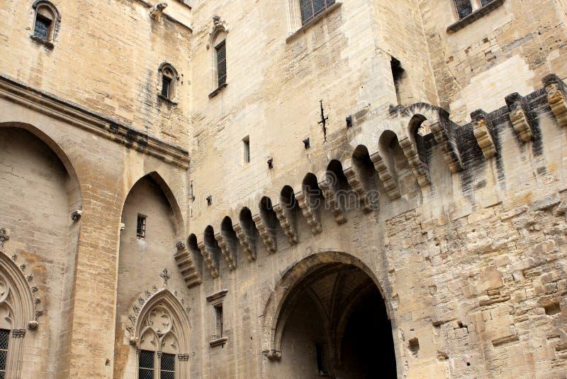 Le palais papal, Avignon photos libres de droits