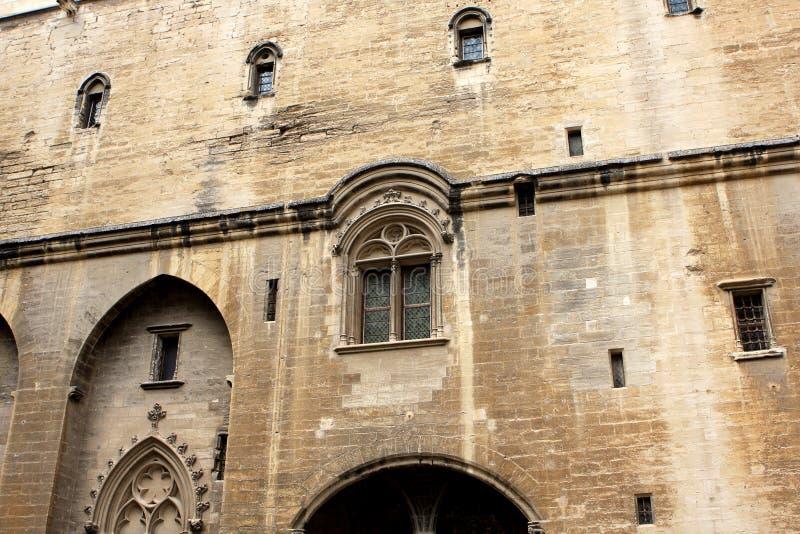 Le palais papal, Avignon photos stock