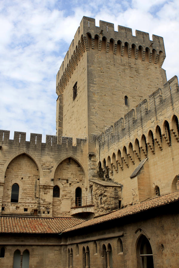 Le palais papal, Avignon image stock