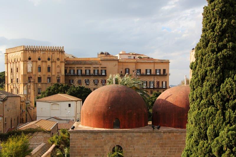 Le palais royal, Palerme photo stock