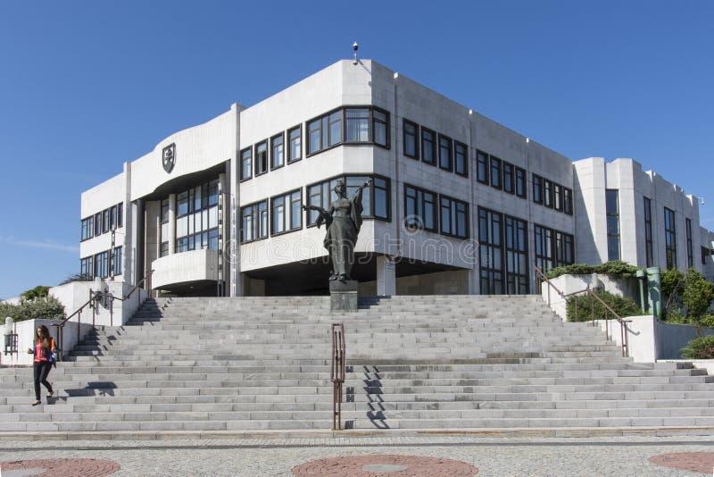 Le palais slovaque du Parlement à Bratislava image libre de droits