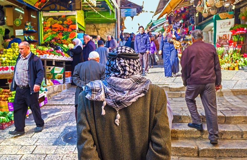 Le Palestinien songeur images libres de droits
