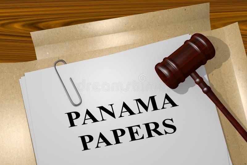 Le Panama empaquette le concept illustration libre de droits