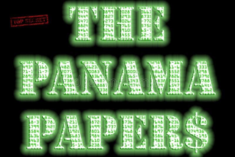 Le Panama empaquette le texte image stock