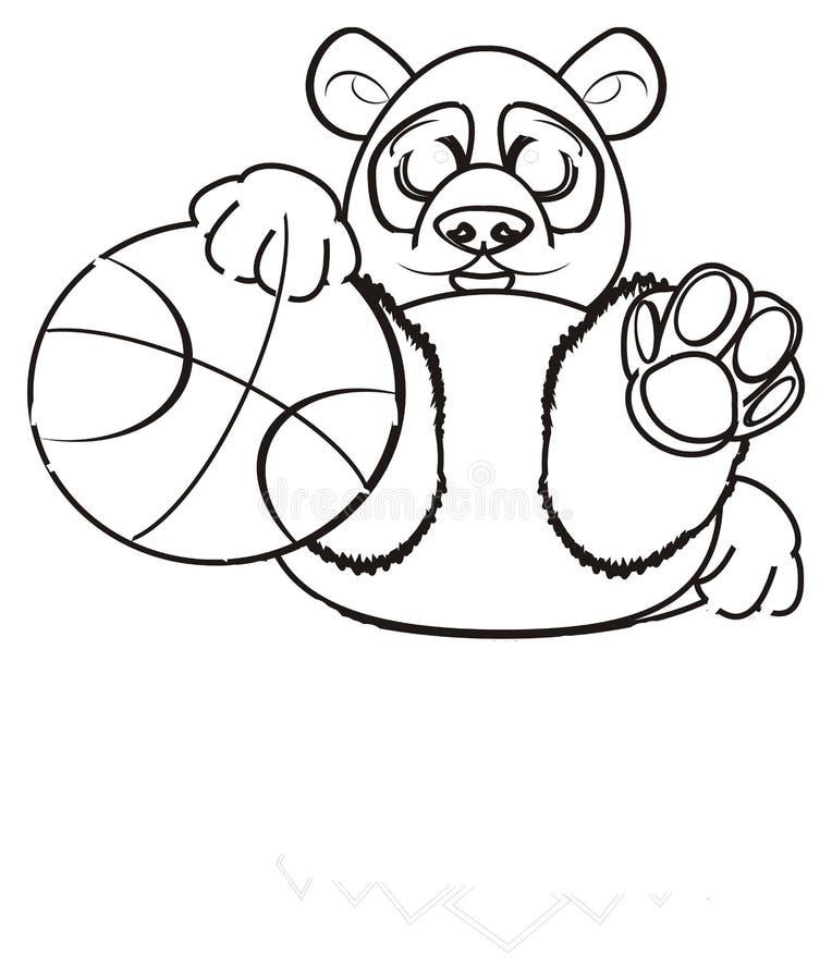 Download Le Panda De Coloration Veulent Jouer Au Basket-ball Illustration Stock - Illustration du aimable, bambou: 77150098
