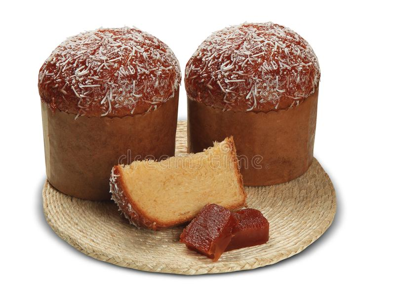 Le Panettone avec la goyave douce est le dessert italien traditionnel FO photos stock