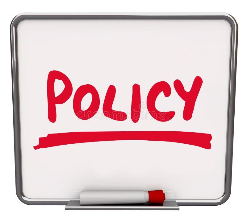 Le panneau d'affichage de Word de politique suivent la conformité de procédure illustration libre de droits
