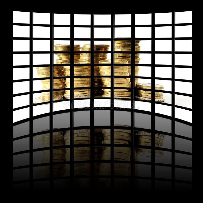 Le panneau de l'affichage à cristaux liquides illustration de vecteur
