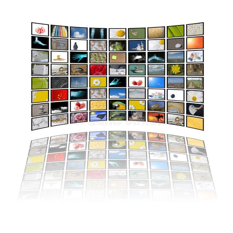 Le panneau de l'affichage à cristaux liquides illustration stock
