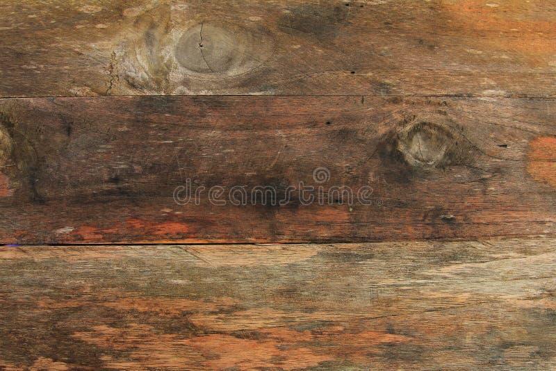 Le panneau en bois de vintage de vue supérieure, se ferment vers le haut du vieux fond en bois de modèle et de texture illustration libre de droits