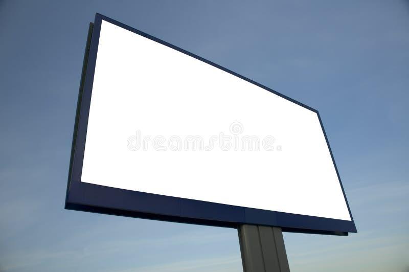 Le panneau-réclame blanc, ajoutent juste votre texte photographie stock