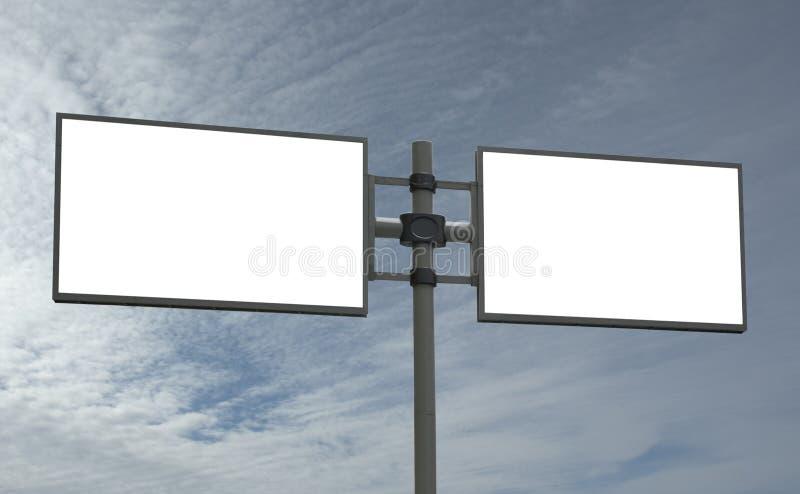 Le panneau-réclame blanc, ajoutent votre message photographie stock libre de droits