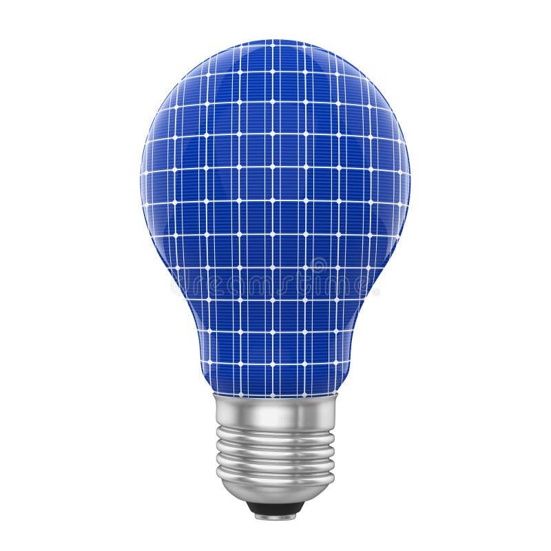 Le panneau solaire d'ampoule a isol illustration stock