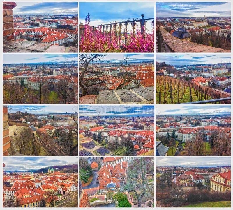 Le panorama aérien des toits à la vieille ville Prague, République Tchèque images libres de droits