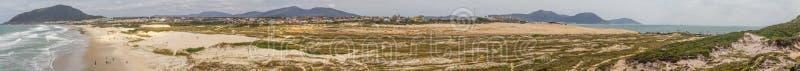 Le panorama de Costao plage font de Santinho et de Praia DOS Ingleses photos stock