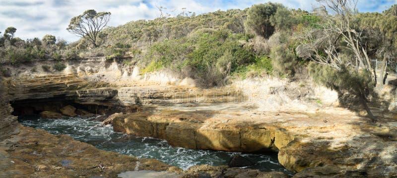Le panorama de la Tasmanie de soufflure image stock
