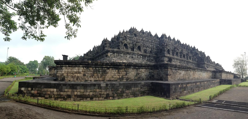Le panorama de temple de Borobudur photo stock