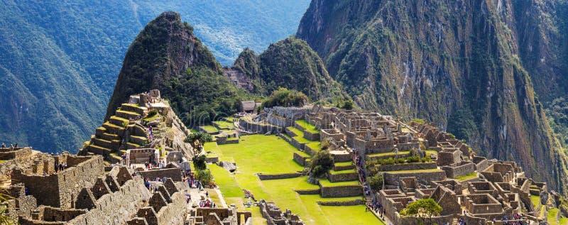 Le panorama Machu Picchu a perdu la ville d'Inkas, nouvelle image stock