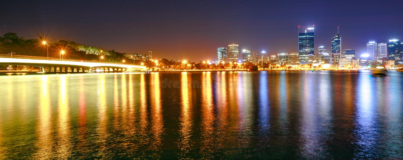 Le panorama rétrécit le pont Perth photographie stock